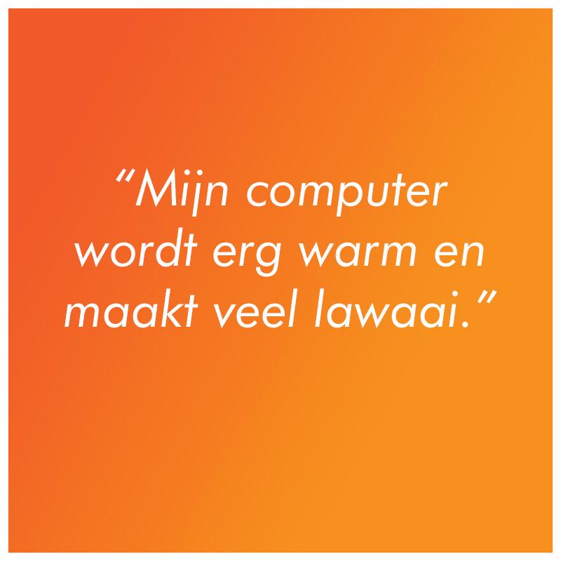 computer wordt warm